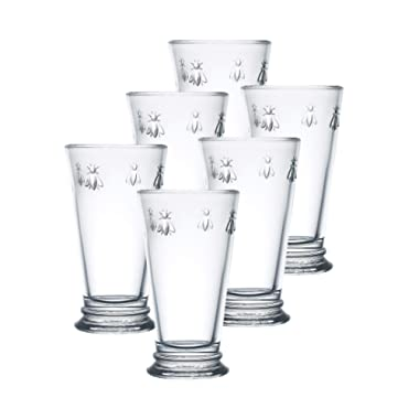 La Rochere Set of 6, 14-Ounce Napoleon Bee Double Old Fashioned Glasses