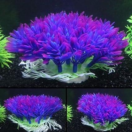 quanjucheer Figura decorativa para acuario (hierba artificial ...