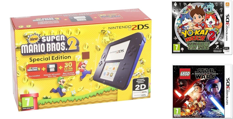 Amazon Es Packs Nintendo 2ds Con 3 Juegos Videojuegos