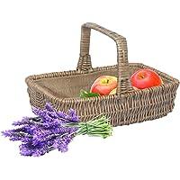 "Wrenbury Traditional Willow Gardening Veg Trug Basket Lined 12"" | Garden Trug Vegetable Basket Natural Woven Willow…"