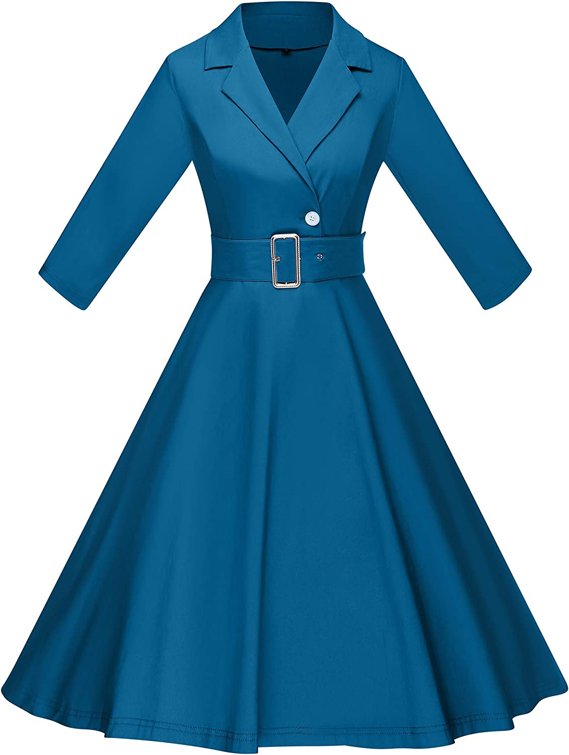 1950s Mature Women Fashion, Mrs. Clothing GownTown Womens 1950s Vintage Swing Dress with 3/4 Sleeves $26.99 AT vintagedancer.com