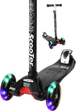 Amazon.com: Eedan Patinete para niños, 3 ruedas, barra en T ...