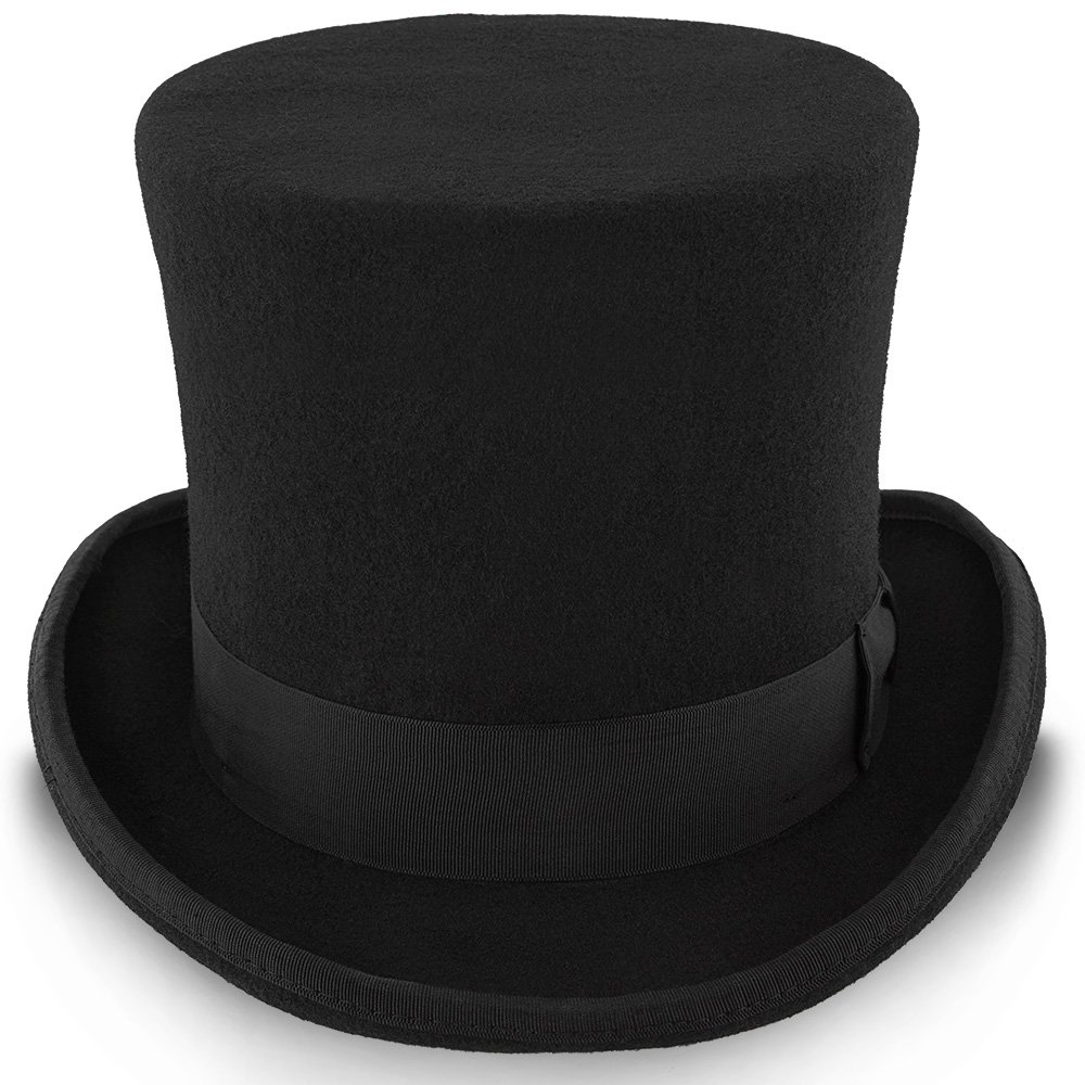 4a6a1f638 Walrus Hats MAD Hatter Wool Felt 6 in. Height Victorian Top Hat ...
