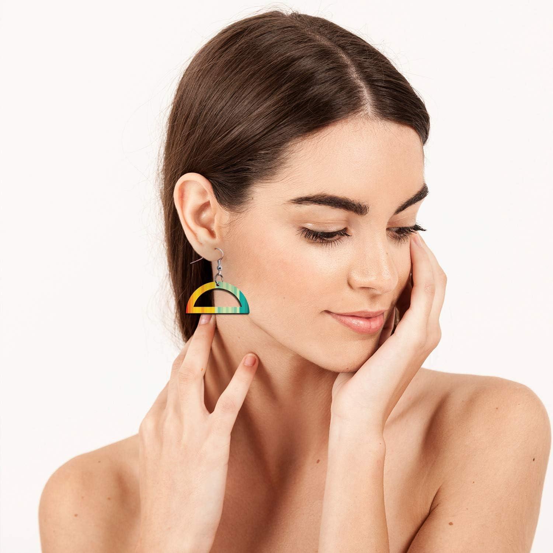 """Wood Earring Blanks for Jewelry Making Unfinished Teardrop Earrings for Women Girls Blank Earring Pendant Bulk Lightweight Statement Dangle Earrings DIY Gift Idea 0.7/""""x1.5/"""""""