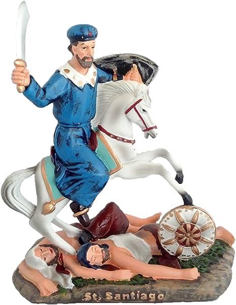 8 pulgadas St James Santiago Estatua Figura decorativa de San Santo San Jaime España religiosa: Amazon.es: Hogar