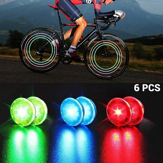 Faviye Luces de llanta de Bicicleta 6 Piezas Luces de Rueda de ...