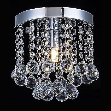 Amazon crystal chandelier lighting modern flush mount ceiling crystal chandelier lighting modern flush mount ceiling light rain drop pendant ceiling lamp for aloadofball Image collections