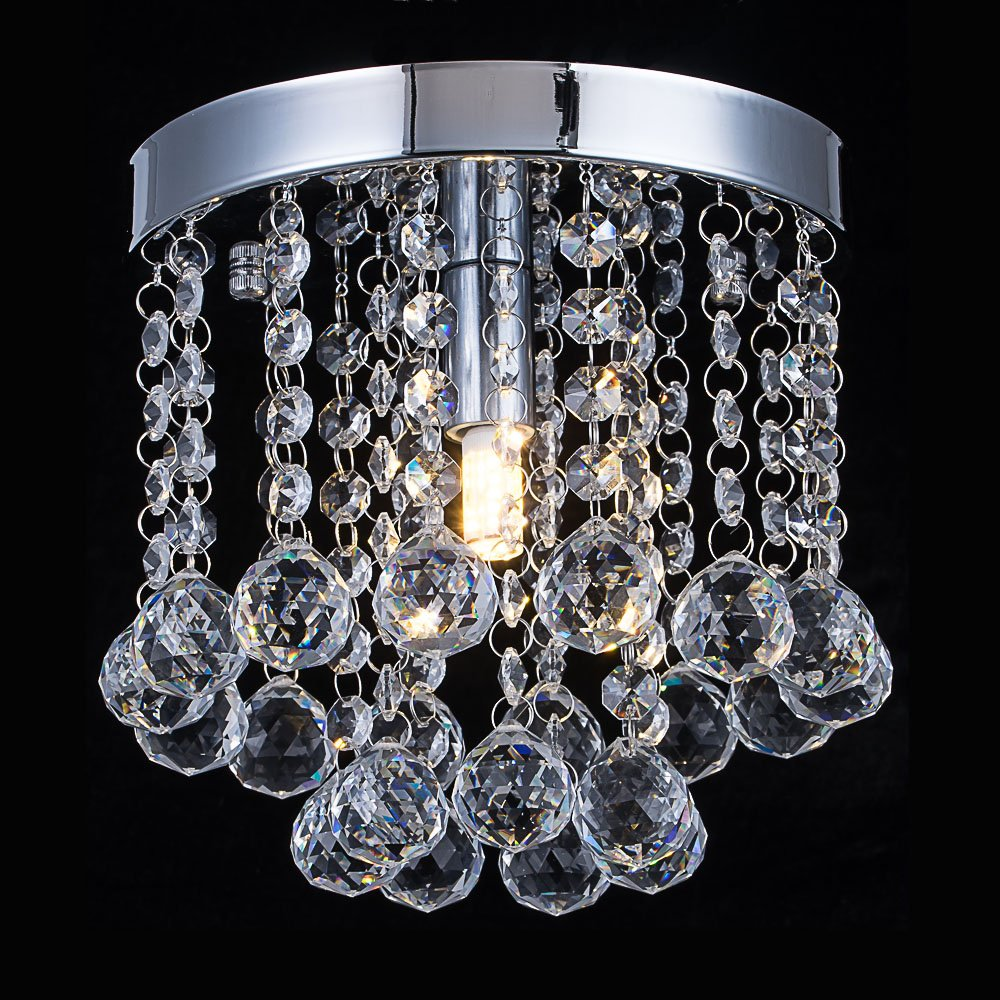 Cristal chandelier iluminacin luz de techo de montaje al ras crystal chandelier lighting modern flush mount ceiling light rain drop pendant aloadofball Choice Image