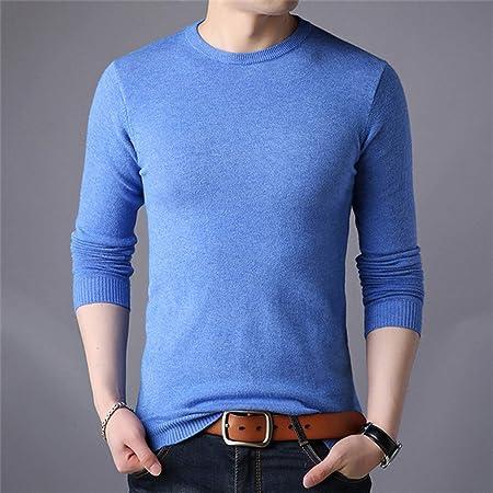 TGZZ Suéter de los Hombres Jersey de otoño Nuevo Cuello ...