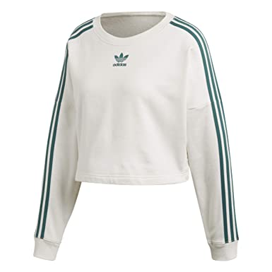 adidas Cropped Sweater - Sweat-Shirt À Capuche Sport - Femme  Amazon ... 333168bc2d6
