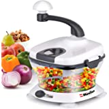 Mueller Ultra Heavy Duty Chopper/Cutter, Fastest, Easiest to Use, Chops Everything, Vegetable, Nuts, Herbs with Built-In…