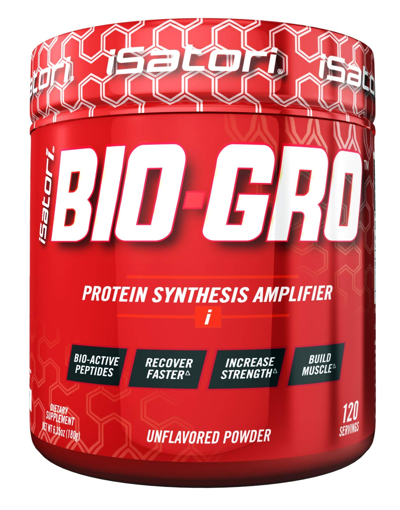 iSatori Bio-GRO Protein Synthesis Amplifier - Designed to Build Lean Muscle, Speed Recovery and Increase Strength - Bio-Active Proline-Rich Peptides - Dietary Supplement - Unflavored - 120 Servings
