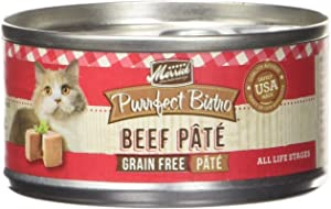 Merrick Purrfect Bistro Beef Pate Recipe Canned Cat Food 24/3-oz cans
