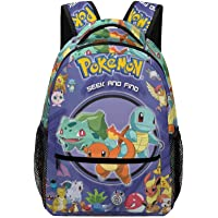 Poke-mon Mochila escolar para niños, mochilas para niños, niñas, estudiantes adolescentes, mochila escolar con bolsillo…