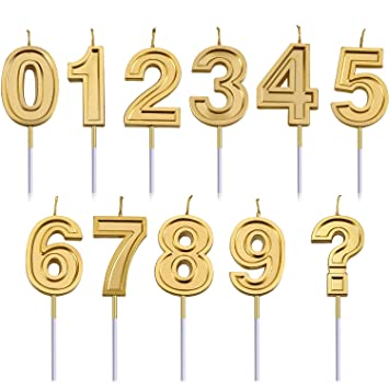 Honoson Números de Pastel de 11 Piezas Velas de cumpleaños ...