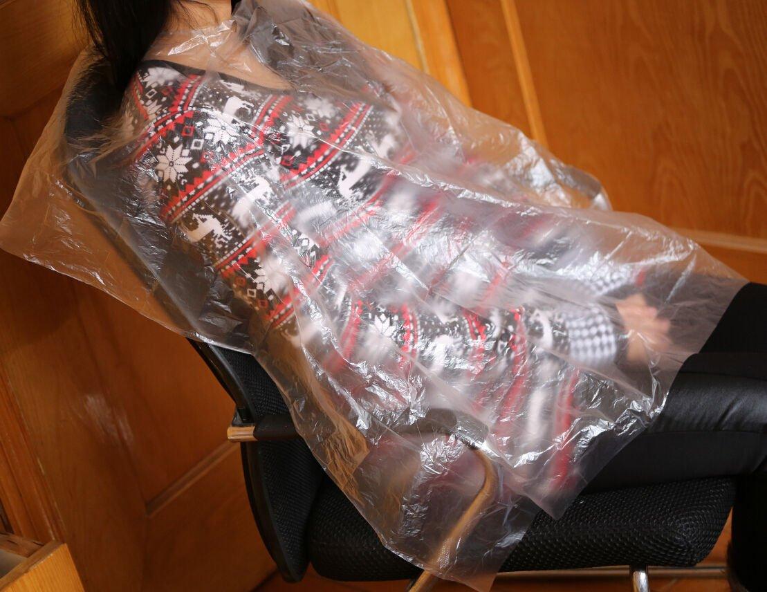 FidgetGear 200 Disposable Hair Cutting Cape Salon Gown/Hair Cut Cutting Salon Stylist Cape