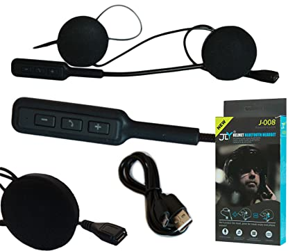 Set de auriculares MP3 con micrófono Bluetooth impermeables para casco de moto o scooter