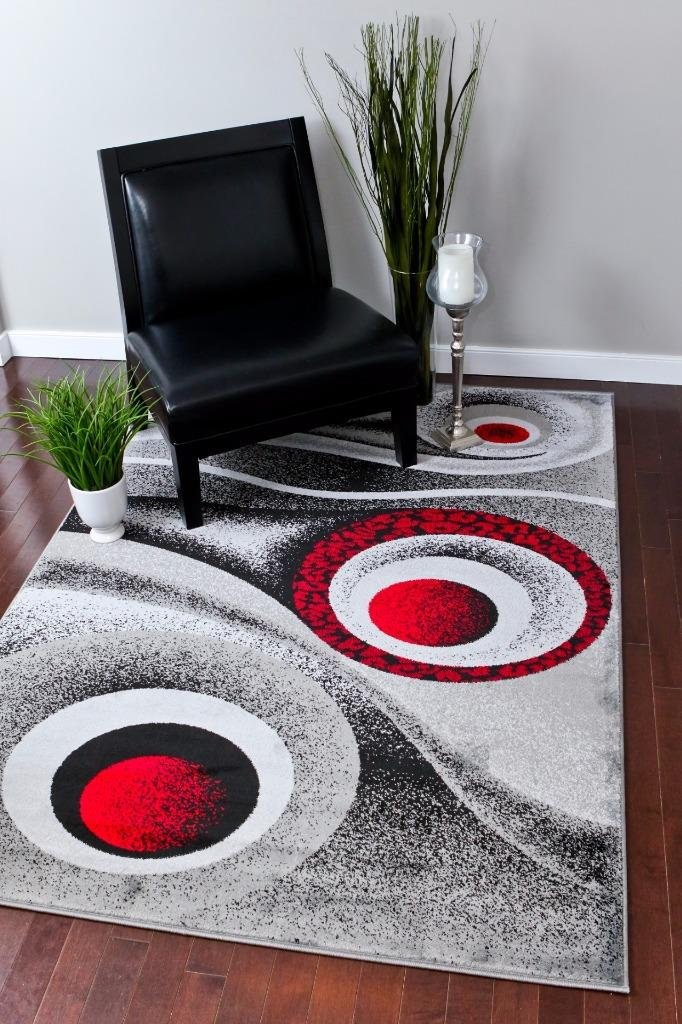 Exceptional Amazon.com: 1504 Grey Gray 5x7 Area Rug Carpet Modern Abstract  Contemporary: Kitchen U0026 Dining