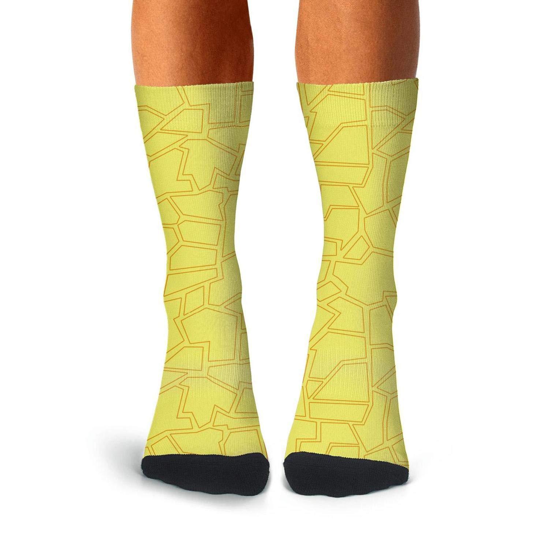 Mens rainbow print giraffe skin compression sweat-absorbent dress socks softball aesthetic calf socks