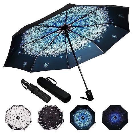 Blue Sky Umbrella PLEMO Automatic Folding Travel Umbrella Parasol Auto Open Close for Men and Women Umbrellas