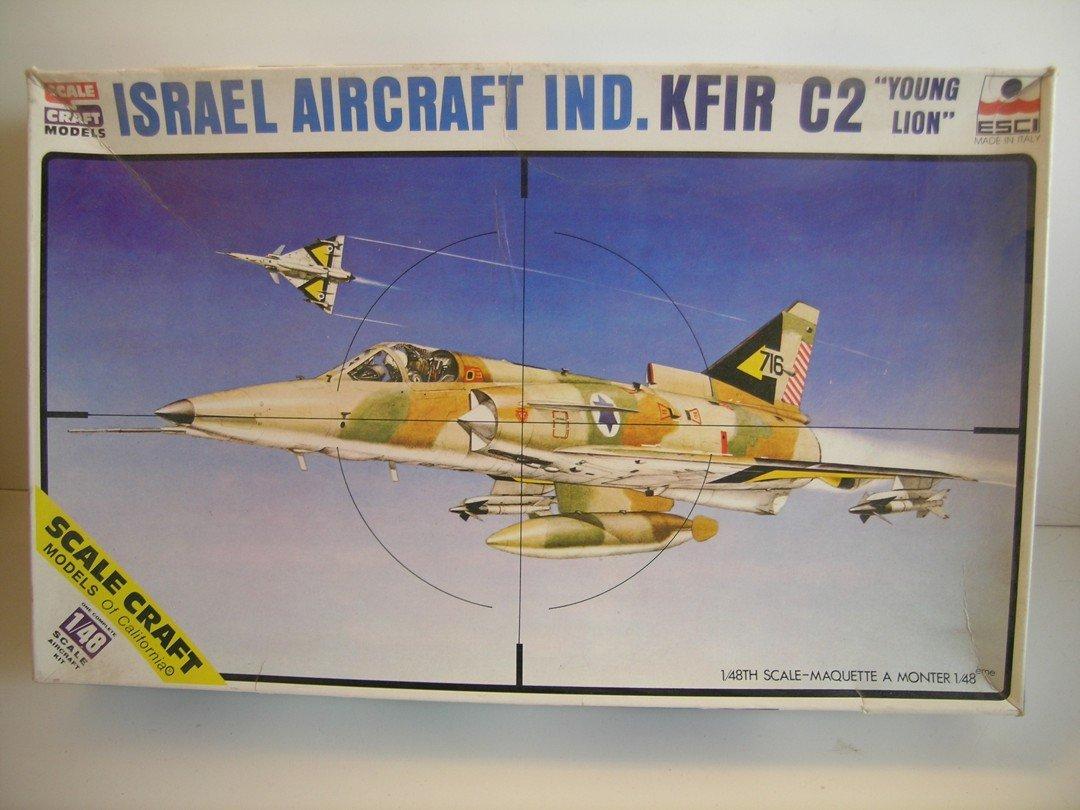 Scale Craft/Esci Models Israel Aircraft KFIR C2 Jet Plastic Model Kit