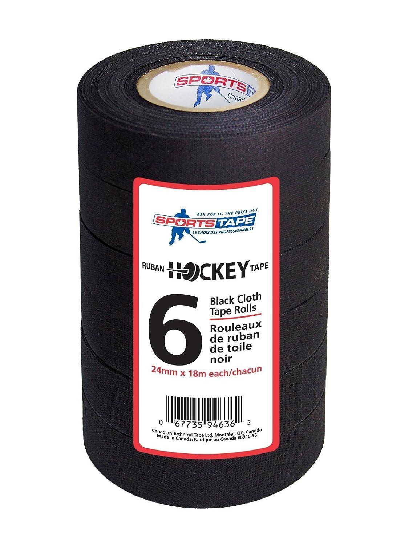 Sportstape Schläger Tape 18m x 24mm schwarz 6er Pack 946-36