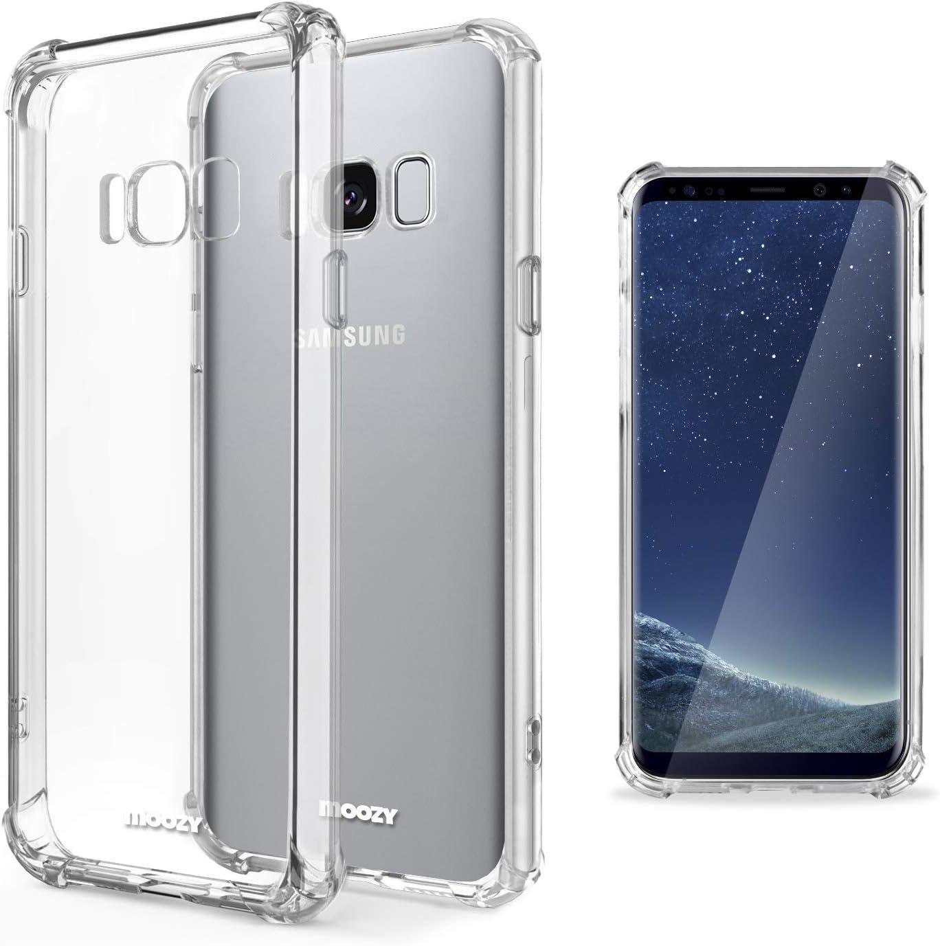 Moozy Funda Silicona Antigolpes para Samsung S8 Plus: Amazon.es ...