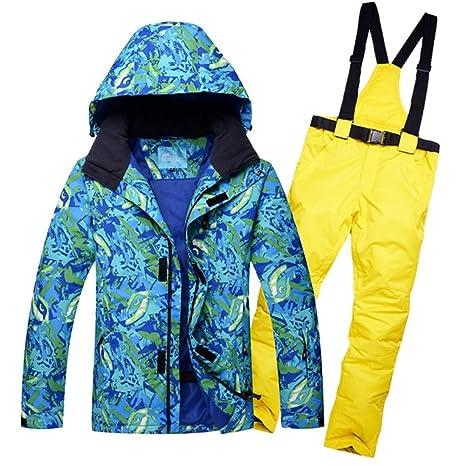 Zjsjacket Chaqueta de esqui Chaqueta de nieve para hombre a prueba ...