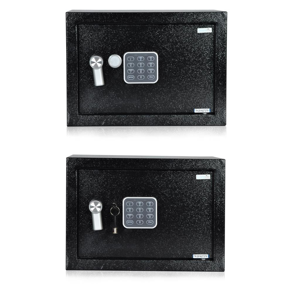 SereneLife Fireproof Lock Box, Fireproof Box, Safe, Safes, Safe Box, Safes And Lock Boxes, Money Box, Fire Proof Safety Boxes for Home, Digital Safe Box, Steel Alloy Drop Safe, Includes Keys (SLSFE14) by SereneLife (Image #2)