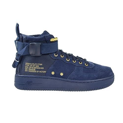 Nike Kids SF Air Force 1 Mid Shoe (GS) (ObsidianObsidianBlack, 6.5 Big Kid)