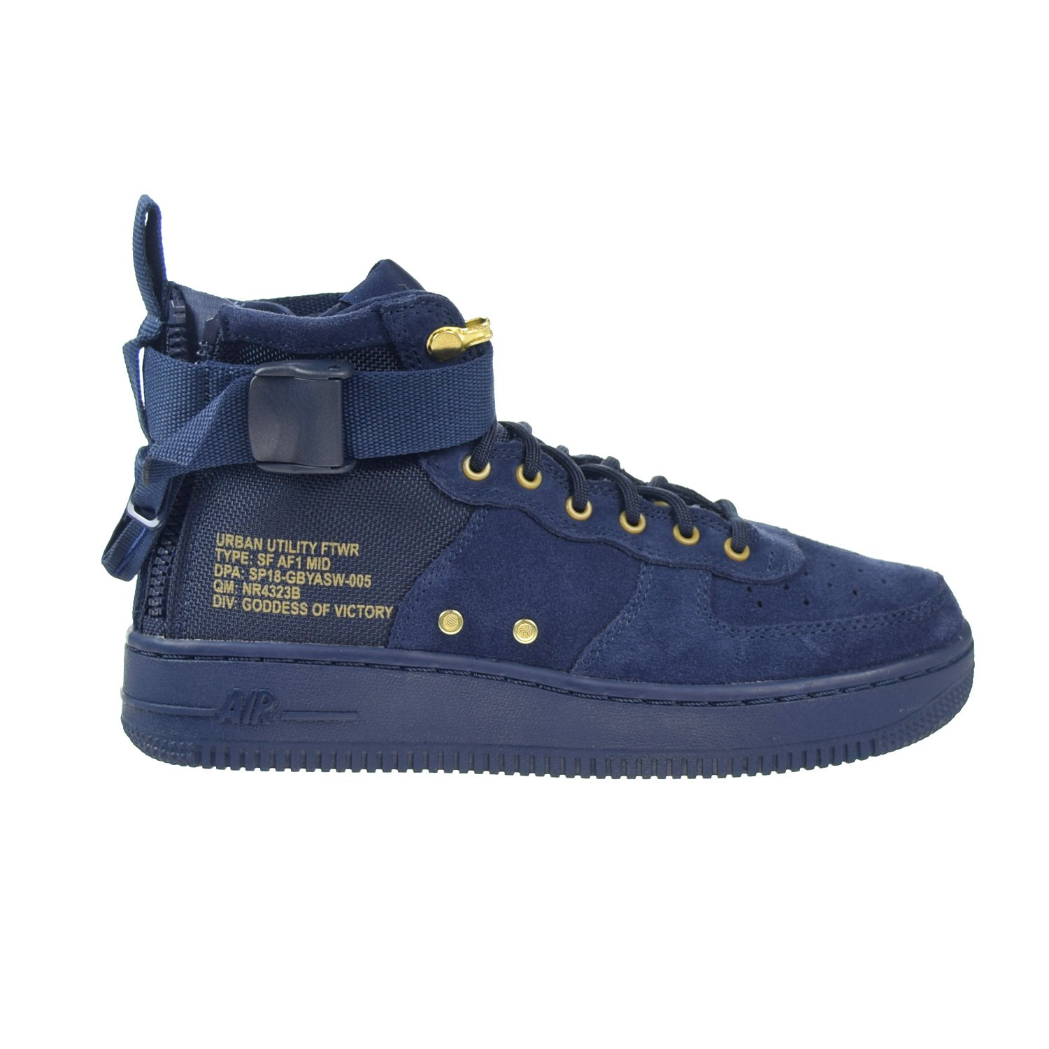 Nike SF AF1 Air Force MID Big Kids Shoes Obsidian Blue/Black aj0424-400 (3.5 M US) by Nike (Image #1)