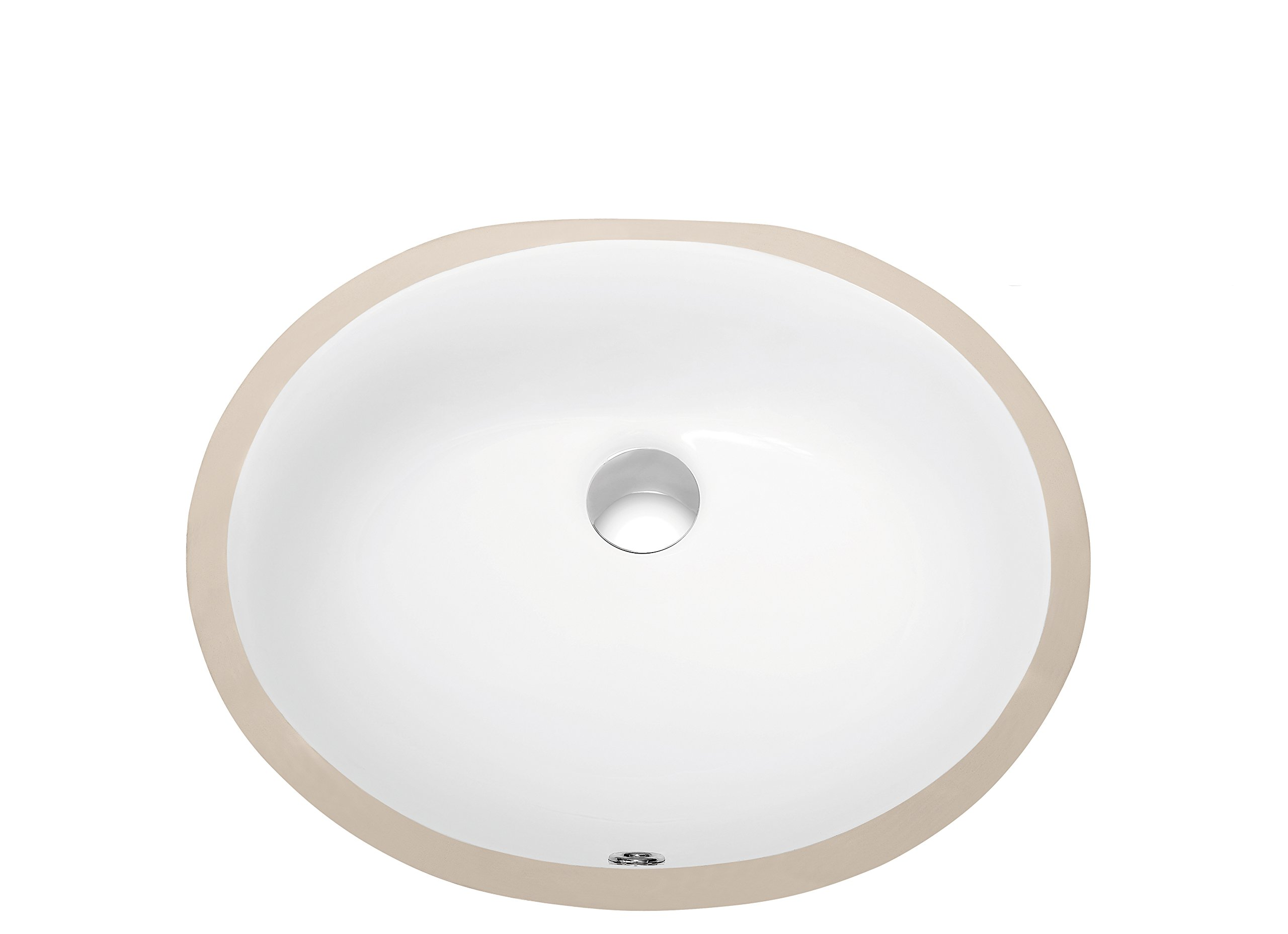 Dawn CUSN007A00 Under Counter Oval Ceramic Basin with Overflow, White by Dawn