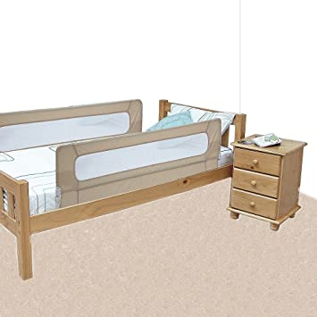 Safetots Extra Wide Double Sided Bed Rail Natural
