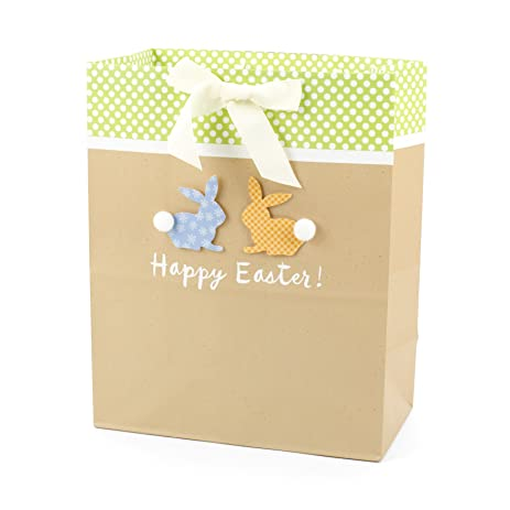 Amazon hallmark large easter gift bag happy easter bunny hallmark large easter gift bag happy easter bunny silhouettes negle Images