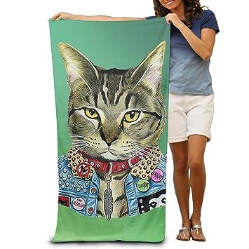 """dimannu toalla de baño (Cat gatito Ilustración Patrón Suave Toalla de playa (31 """""""