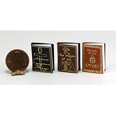 Dollhouse Miniature 1:12 Scale Set of Three Ancient Egyptian Magic Books: Toys & Games