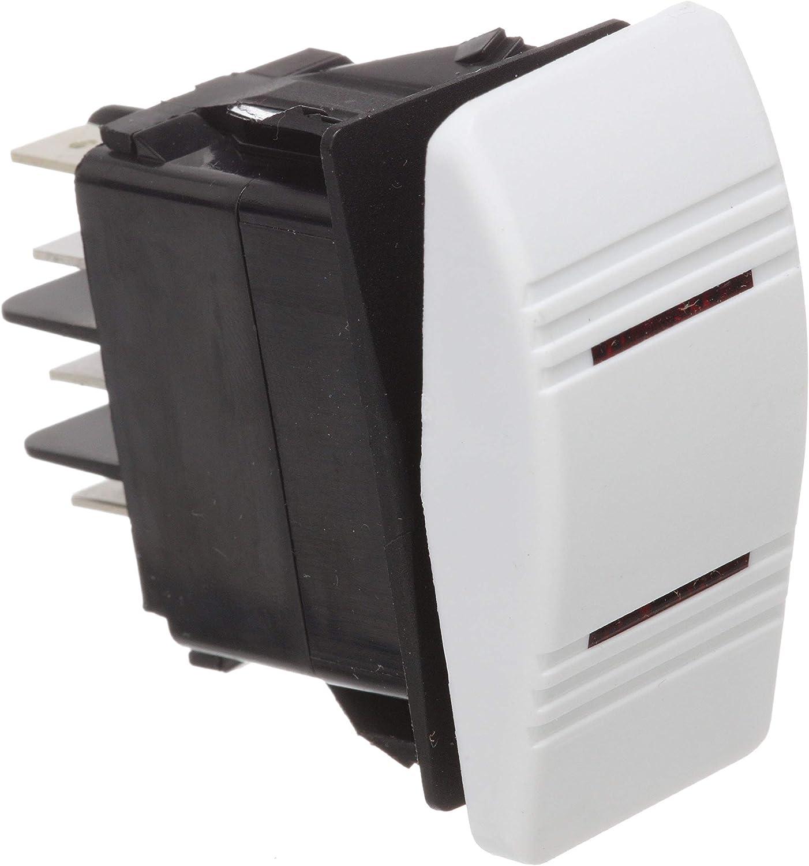 Illuminated 7 Terminal Seachoice 13021 Contura Rocker Switch DPDT Black On 1//Off//On1 and 2