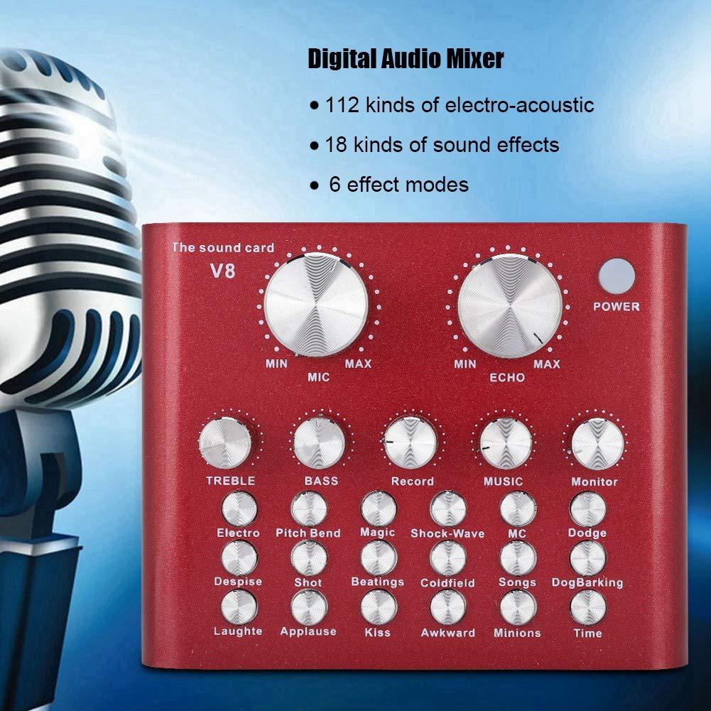 Tosuny Tarjeta de Sonido Externa en Vivo, Mezclador de Audio ...