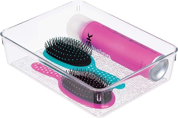 InterDesign Rain Caja de almacenaje para cosméticos y Maquillaje ...