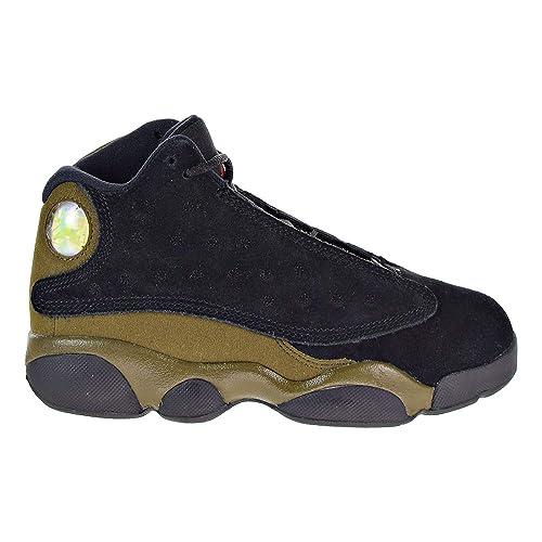 f375209fc7b150 Nike 414575-006 Preschool 13 Retro BP Jordan Black Gym Red Light Olive