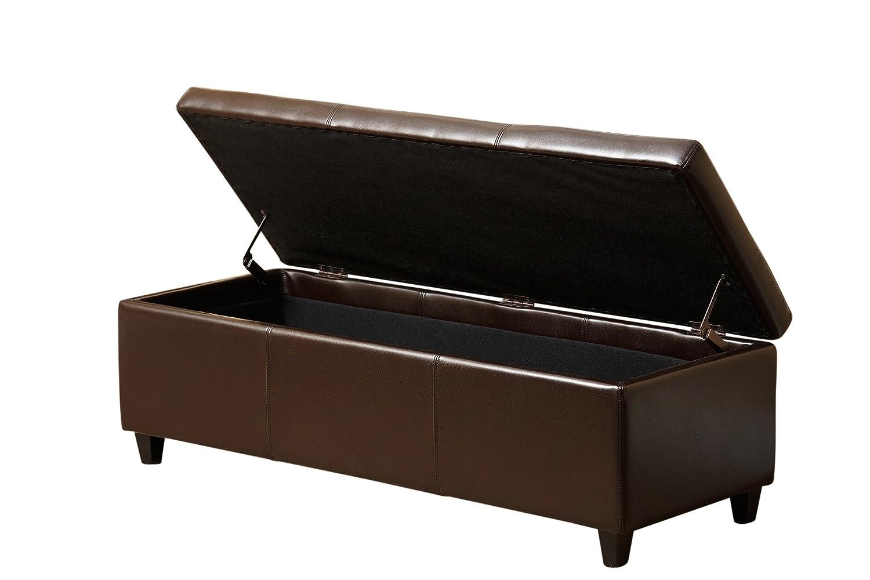 Incredible Abbyson Frankfurt Leather Storage Ottoman Creativecarmelina Interior Chair Design Creativecarmelinacom
