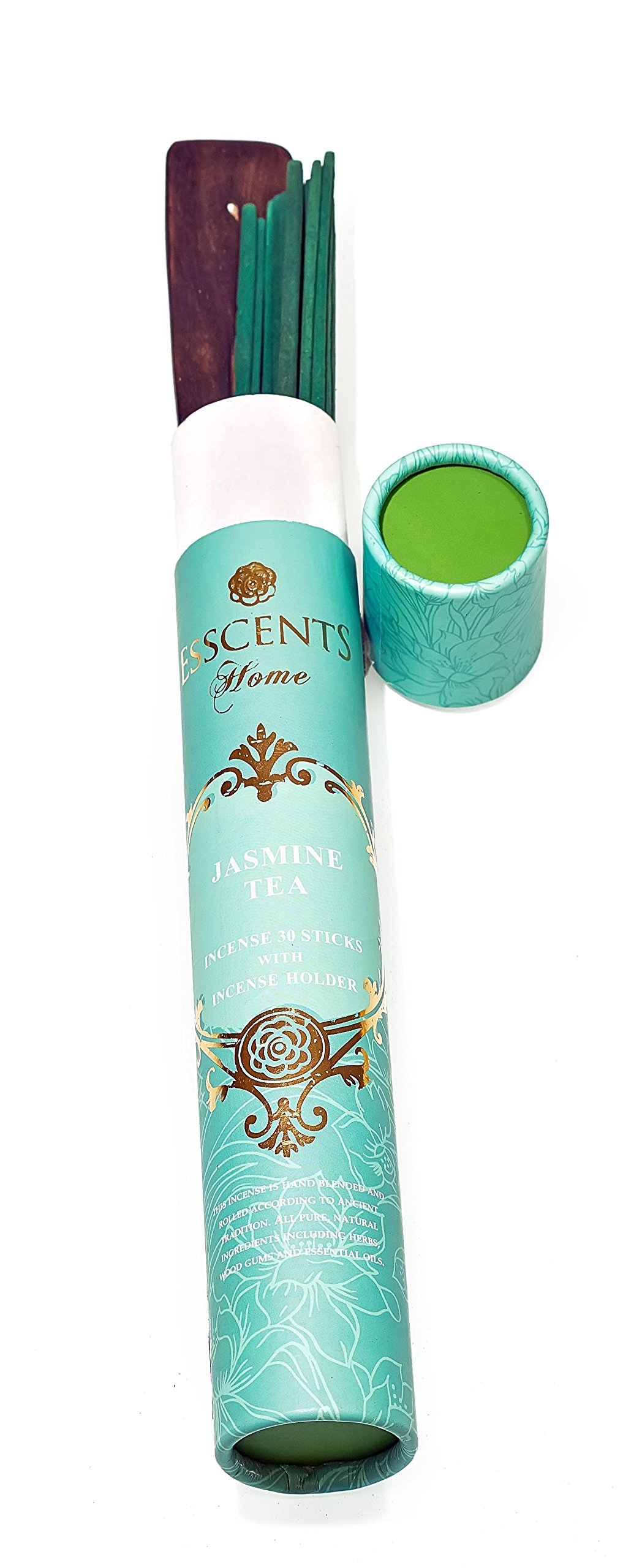 Essence incense gift pack 180 sticks with incense holder 6 flavors, Ocean,Morning Blosom,Jasmine tea,Rose Geranium,Sandalwood spice, And Lavender Rosemary. by Essence (Image #4)