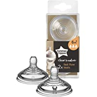 Tommee Tippee Closer to Nature Fast Flow Teats (2 teats), Pack of 1
