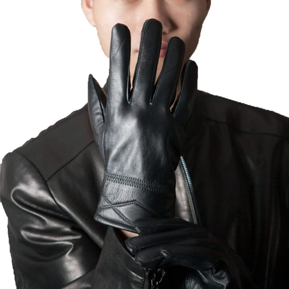 CWJ Gloves Men Warm Thickening Fashion,Black,One Size by CWJ (Image #1)