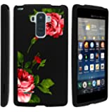 Miniturtle [ LG G Stylo Case, LG G Stylus Hard Case, G4 Stylus Slim Cover] -[Snap Shell] 2 Piece Rubberized Hard Plastic Case - Affectionate Flowers