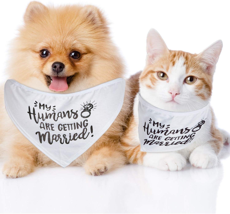 2 Piezas Bandera de Perro de My Humans Are Getting Married Mascota Bandera de Perro de Boda Bufanda Mascota Anuncio de Boda para Perros Peque/ños Medianos y Grandes