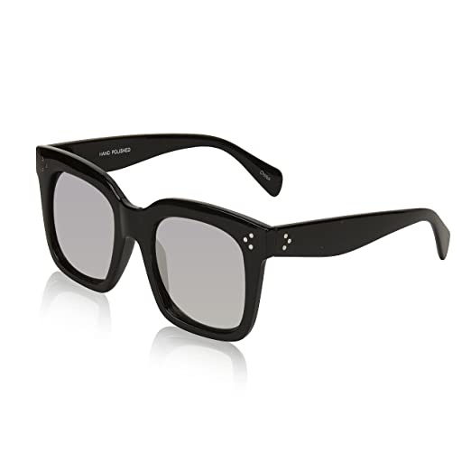 289c9dfd18a0 Stylish Womens Sunglasses For Woman Men With Mirror Revo Flat Lens Shades  Black
