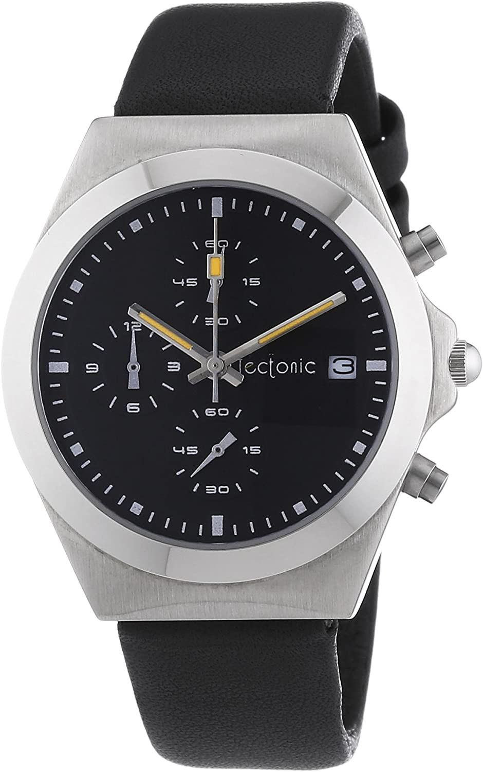 Tectonic 41-6905-44 - Reloj de cuarzo unisex, color negro
