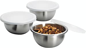 Anchor Hocking Stainless Steel Nesting Pinch Bowls with Lids, 4.4 Ounce, 6-Piece Set