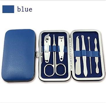 Estuche de manicura y pedicura, de JYtop®, de viaje, para aseo personal, azul: Amazon.es: Deportes y aire libre